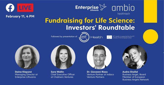 Gyvybės mokslų finansavimas: investuotojų apskrito stalo diskusija